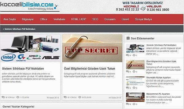 Kocaeli Bilişim Web Tasarım Akademisi Yayında